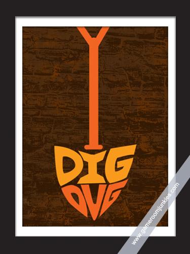 Dig Dug Minimalist Poster