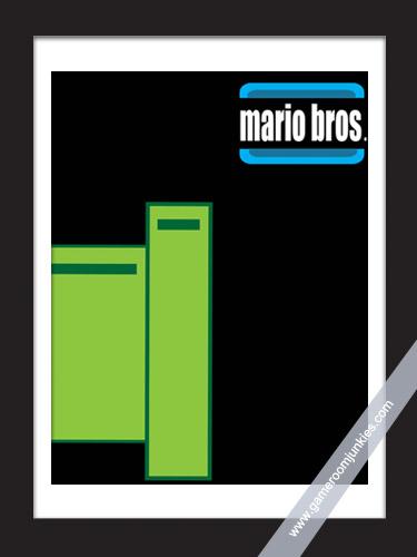 Minimalist Arcade Poster for Mario Bros.