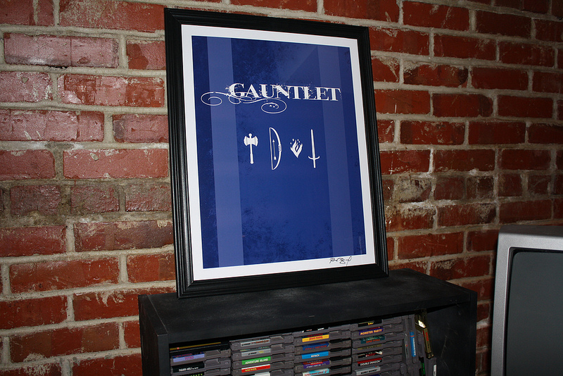 Minimalist Arcade Poster Design for Gauntlet
