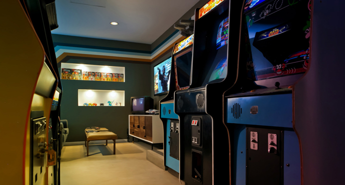 Retro Garage Arcade with a Modern Twist