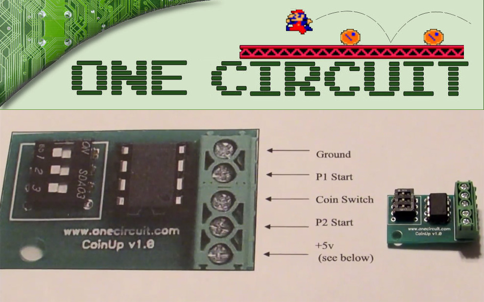 One Circuit Free Play Arcade PCB