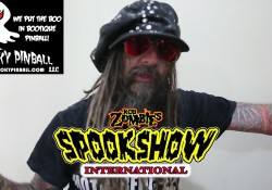 Rob Zombie announcing his new pinball machine - Spookshow International
