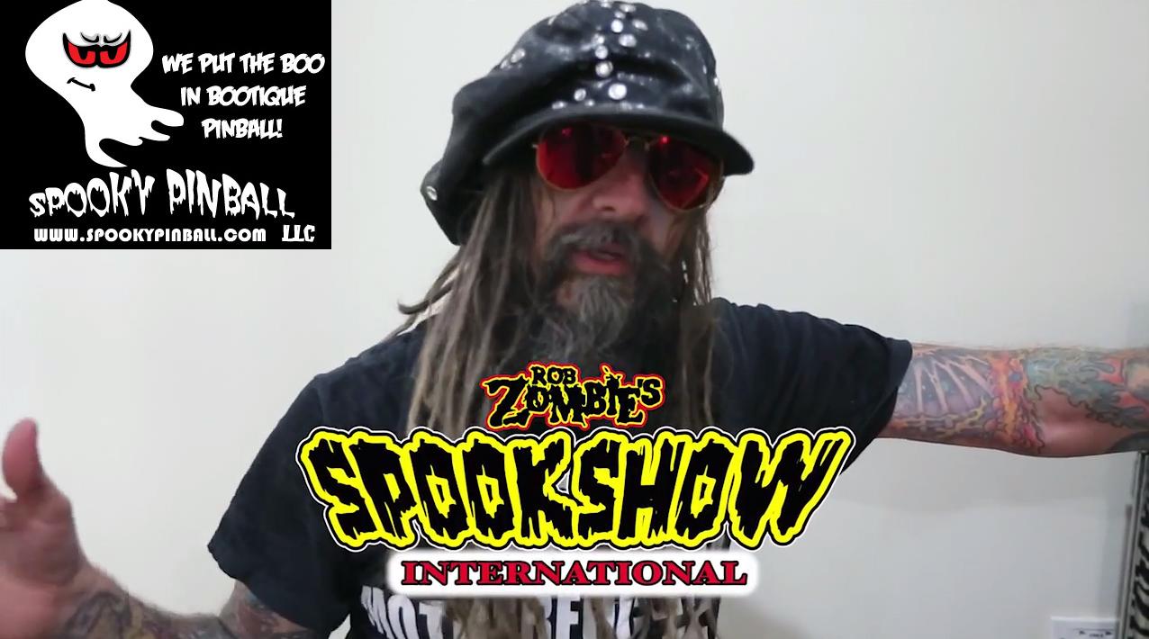 Rob Zombie announcing his new pinball machine - Spookshow International