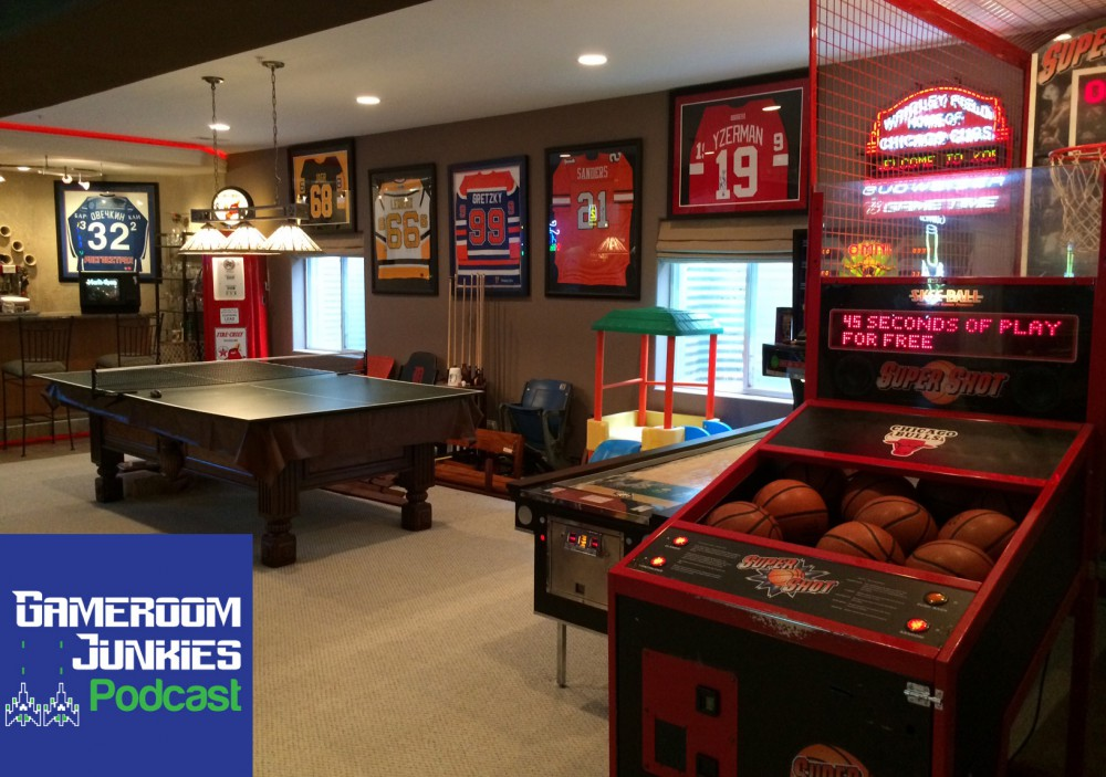 This sports fanatic 39 s gameroom is a home run gameroom for House plans with game room