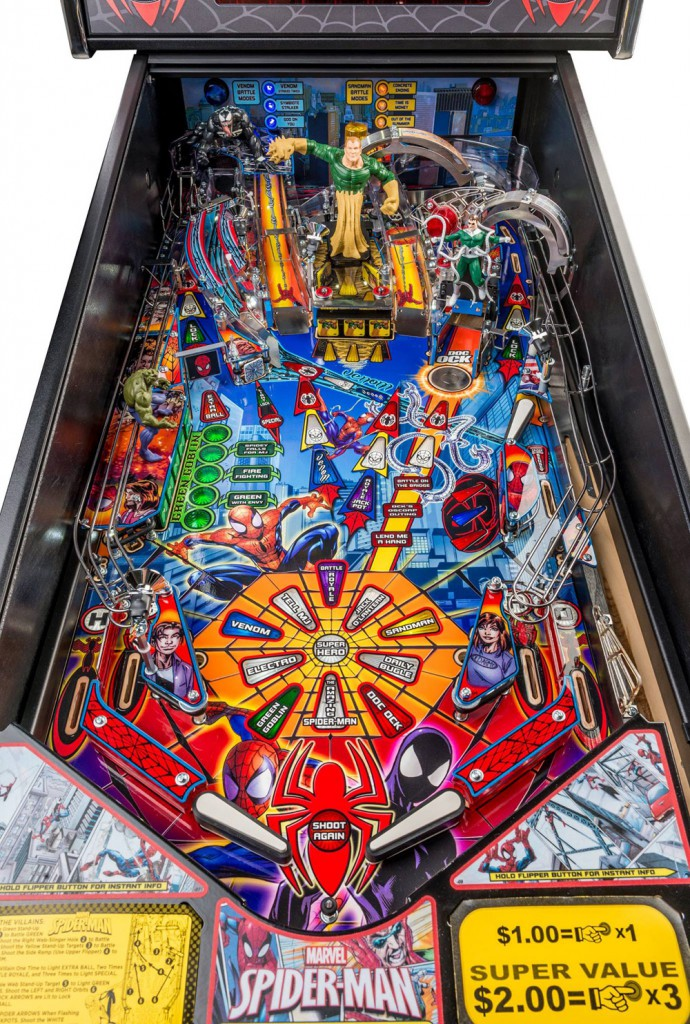 Spider-Man Pinball Playfield