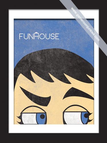 Minimalist Pinball Poster for Williams' Fun House